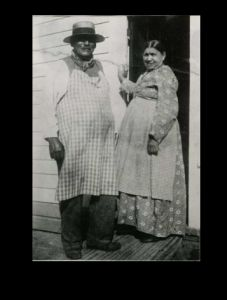 George and Esther Crum, probably at the backdoor of their house in Malta. c. 1890