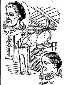 George Crum at work in his kitchen along with images of Nancy Hagamore and Esther Crum.  New York Herald August 4, 1889.